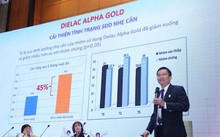 Bác sĩ Mai Thanh Việt báo cáo kết quả hợp tác nghiên cứu lâm sàng về hiệu quả của sữa bột Dielac Alpha Gold