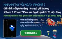 Ông già Noel phát miễn phí Iphone 7 Plus