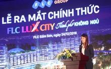Bà Trần Thị My Lan, Phó tổng giám đốc Tập đoàn FLC phát biểu tại buổi lễ.