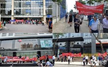 Hình ảnh cư dân căng băng rôn biểu tình tại một dự án bất động sản của Hà Nội. Nguồn: Infonet.