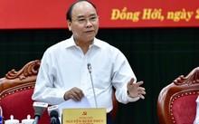 Thủ tướng làm việc với lãnh đạo tỉnh Quảng Bình. Ảnh: VGP/ Nhật Bắc