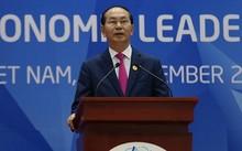 Chủ tịch nước Trần Đại Quang phát biểu. Ảnh: Quỳnh Trần.