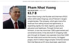 Tài sản của ông chủ Vingroup lên đến 4,8 tỷ USD, vượt cả Tổng thống Trump