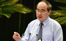 Bí thư Thành ủy TP HCM Nguyễn Thiện Nhân phát biểu bế mạc hội nghị. Ảnh: Thiên Ngôn.