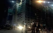 Khu chung cư 16 tầng nơi xảy ra vụ sập giàn giáo - Ảnh: Giang Long- Báo Tuổi trẻ
