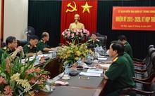 Thượng tướng Lương Cường chủ trì kỳ họp. Ảnh QĐND