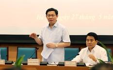 Phó Thủ tướng Vương Đình Huệ làm việc với Thành phố Hà Nội về vấn đề đổi mới cơ chế quản lý, tài chính và tổ chức lại các đơn vị sự nghiệp công. Ảnh: VGP/Thành Chung