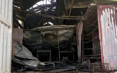 Hiện trường vụ cháy tại Hoài Đức. Ảnh: Trần Anh