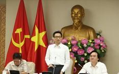 Phó Thủ tướng Vũ Đức Đam làm việc với lãnh đạo Bộ GD&ĐT về chất lượng đào tạo ngành sư phạm sáng 17/8. (Ảnh: Đình Nam)