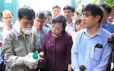 Bộ trưởng Bộ Y tế Nguyễn Thị Kim Tiến kiểm tra công tác phòng chống dịch sốt xuất huyết tại Hà Nội hôm nay 20/8