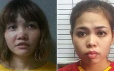 Đoàn Thị Hương (trái) và Siti Aishah khai trước tòa rằng vụ ám sát Kim Jong-nam là trò chơi khăm trên truyền hình. Ảnh: BBC.