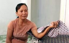 Chị Nguyễn Thị Vân lo lắng khi con mình rớt hệ công cập lập phải sang địa phương khác học dân lập, vì ở huyện Nông Sơn không có trường dân lập. Ảnh: Đắc Thành.