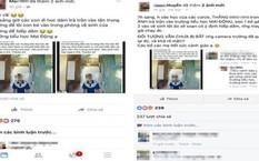Hình ảnh đối tượng lạ mặt đột nhập vào trường Tiểu học Mai Động bị camera ghi lại và thông tin trên mạng xã hội