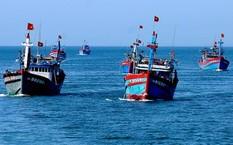 Ngư dân đánh bắt cá trên biển