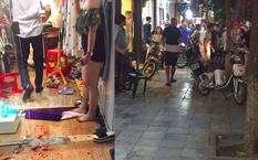 Hiện trường vụ chém người trên phố Hàng Bông - Ảnh: bạn đọc Tiến Dũng cung cấp