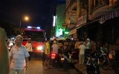 Lực lượng công an PCCC có mặt tại hiện trường ngay sau khi vụ nổ xảy ra