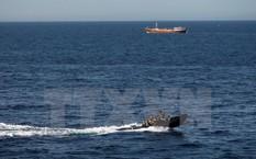 Lực lượng đặc nhiệm chống cướp biển của Pháp tuần tra tại khu vực ngoài khơi thành phố Bosasso thuộc vùng bán tự trị Puntland, Somalia ngày 26/3/2014.