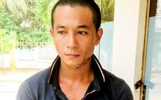 Nghi can Huỳnh Út Việt thời điểm đầu thú. Ảnh: An Bình.