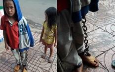 Công an vào cuộc vụ bé trai bị xích tay chân lang thang ngoài chợ