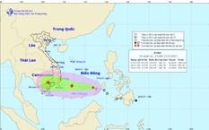 Hình ảnh đường đi của áp thấp nhiệt đới. Ảnh: TTKTTVQG