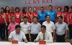 Lễ ký kết giữa Dược phẩm Kingphar và Đội bóng chuyền Quảng Ninh