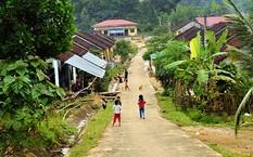 Người dân ở khu tái định cư thôn Tre sau khi nhường đất cho Hồ Nước Trong. Ảnh: Phạm Linh