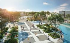 Quảng trường trung tâm nơi diễn ra các hoạt động giải trí của cư dân và du khách
