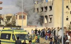 Hiện trường vụ đánh bom. Ảnh: Twitter