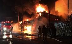 Vụ hỏa hoạn tại Đài Loan (ảnh: CNA)