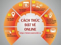 Tiện ích với dịch vụ đặt vé trực tuyến tại hệ thống Sun World