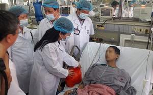 Bệnh nhân bị tai biến hôm 29/5 tại Bệnh viện đa khoa tỉnh Hòa Bình (Ảnh: Thúy Anh)