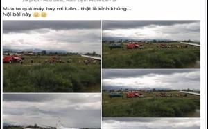 """Tài khoản Facebook Phạm Thị Mùi tung tin đồn """"máy bay rơi ở Nội Bài"""""""