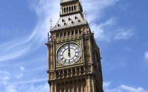 Đồng hồ Big Ben nổi tiếng của cung điện Westminster