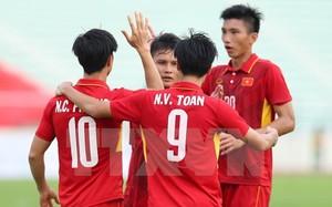 U22 Việt Nam hướng đến chiến thắng thứ 2 tại SEA Games 29. (Ảnh: Quốc Khánh/TTXVN)