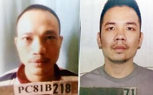 Lê Văn Thọ (trái) và Nguyễn Văn Tình (phải) - Ảnh cơ quan công an cung cấp
