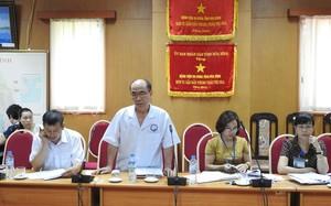 Ông Quách Thiên Tường, Phó Giám đốc Phụ trách BVĐK tỉnh Hòa Bình chủ trì cuộc đối thoại