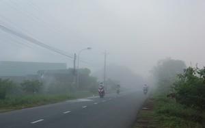 Sương mù bao phủ dày đặc ở Tây Ninh