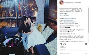Hình ảnh hôn má của Phan Thành được nhiều fan quan tâm