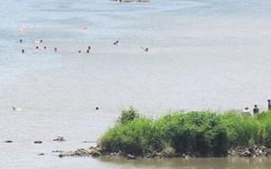 Đoạn sông Ba nơi 4 học sinh bị đuối nước. Ảnh: Lê Kha.