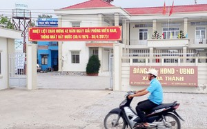 Trụ sở xã Hòa Thành - nơi cán bộ dời hộ khẩu vợ phó bí thư để cấp sổ cận nghèo. Ảnh: Phúc Hưng.