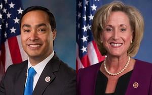 Hạ nghị sĩ Joaquin Castro, bang Texas và Hạ nghị sĩ Ann Wagner, bang Missouri.