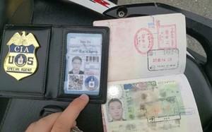 """Giấy tờ giả của """"điệp viên CIA"""" Trung Quốc. Ảnh: SCMP."""