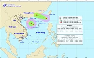 Dự báo đường đi của bão số 3 và ATNĐ