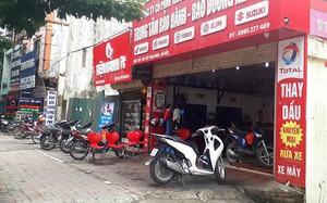 Cửa hàng sửa chưa xe máy nơi xảy ra sự việc. Ảnh: Hoàng Lam.