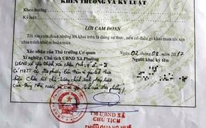 Bản sau sơ yếu lý lịch có bút phê của cán bộ xã Yên Thịnh. Ảnh: NVCC.