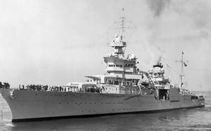 Tàu tuần dương hạng nặng USS Indianapolis. Ảnh: Getty.