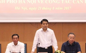 Chủ tịch UBND Hà Nội Nguyễn Đức Chung phát biểu tại buổi lễ. Ảnh: Bảo Lâm.