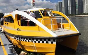 Tàu buýt đường sông đầu tiên của TP HCM. Ảnh: Hữu Công.