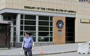 Đại sứ quán Mỹ tại Moscow, Nga. Ảnh: Press TV.