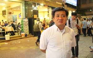 Ông Đoàn Ngọc Hải trong lần thứ 2 phạt nhà hàng Biển Dương 3. Ảnh: Duy Trần.